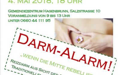 """Vortrag am 4. Mai 2018 – """"Darm-Alarm – wenn die Mitte rebelliert"""""""
