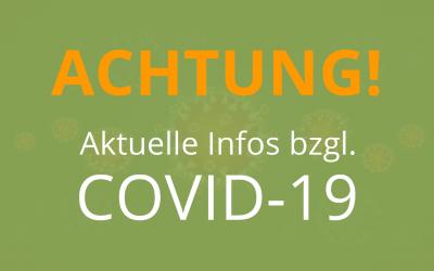 Aktuelle Meldung zum Corona-Virus Covid-19